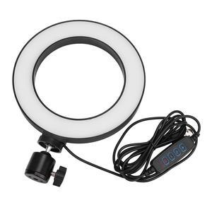 Image 5 - 6 אינץ LED טבעת אור Selfie למלא מנורת 10 רמות בהירות Dimmable 3 מצבי אור לסלון שידור/צילום/הקלטה