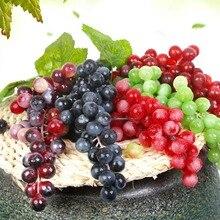 Artificial Fruits Grapes DIY Plastic Fake Fruit Christmas Home Wedding Decoration Simulation