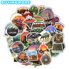 50 PCS Camping Landscape Stickers Outdoor Adventure Climbing Travel Waterproof Sticker to DIY Suitcase Laptop Bicycle Helmet Car cheap BUYINGMORE CN(Origin) 3CM ~8CM 3CM ~10CM PVC Waterproof Bright Colors Not Repeating Leaving No Trace 40g pack BM-DK-HW-50