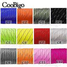 1pcs Reflective Paracord Rope Dia.4mm for Survival Parachute Cord Lanyard Camping Climbing Camping Rope Hiking Clothesline