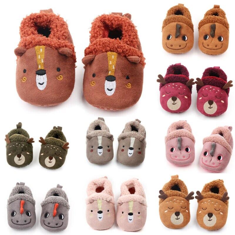 Hot Sale New Toddler Baby Shoes Winter Non-Slip Warm Soft Fleece Shoes Prewalker Newborn To 18 Months