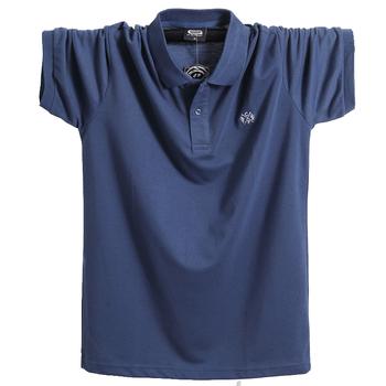 Letnia męska koszulka Polo odzież marki czysta bawełna męska biznesowa męska koszulka Polo z krótkim rękawem oddychająca miękka koszulka Polo 5XL tanie i dobre opinie CPCOEPAX REGULAR Haft Stałe Na co dzień COTTON Plus size T-Shirt Casual Polo Shirt Plus Size Polo Shirt Short Polo Shirt