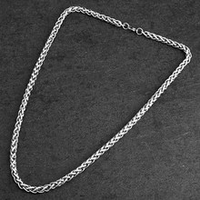 Mcllroy Hip Hop 50cm-80cm Long Necklaces Stainless Steel Men Necklace Curb Cuban Link Chain Necklace Punk Rock Man Jewelry 2019(China)