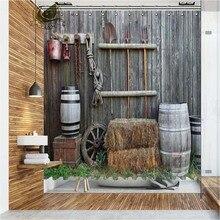Cortinas de ducha de la ciudad occidental de Vixm cortinas de baño de tela de poliéster impermeable para decoración del hogar