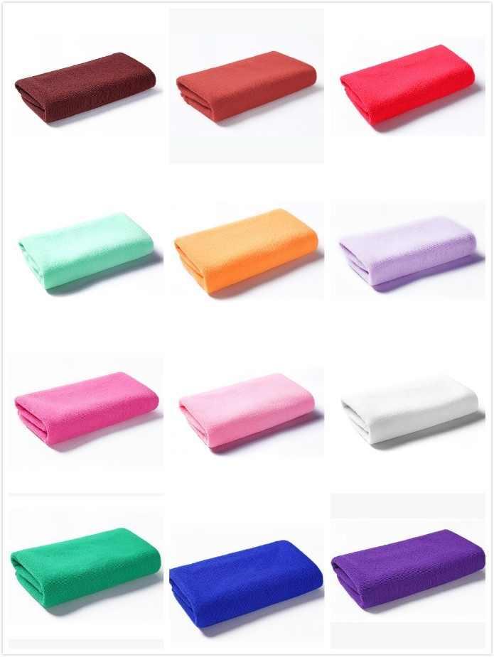 14 ألوان المياه منشفة ممتصة السباحة منشفة استحمام منشفة مايكرو الألياف تجفيف منشفة الشاطئ الصلبة صديقة للبيئة لينة ومريحة