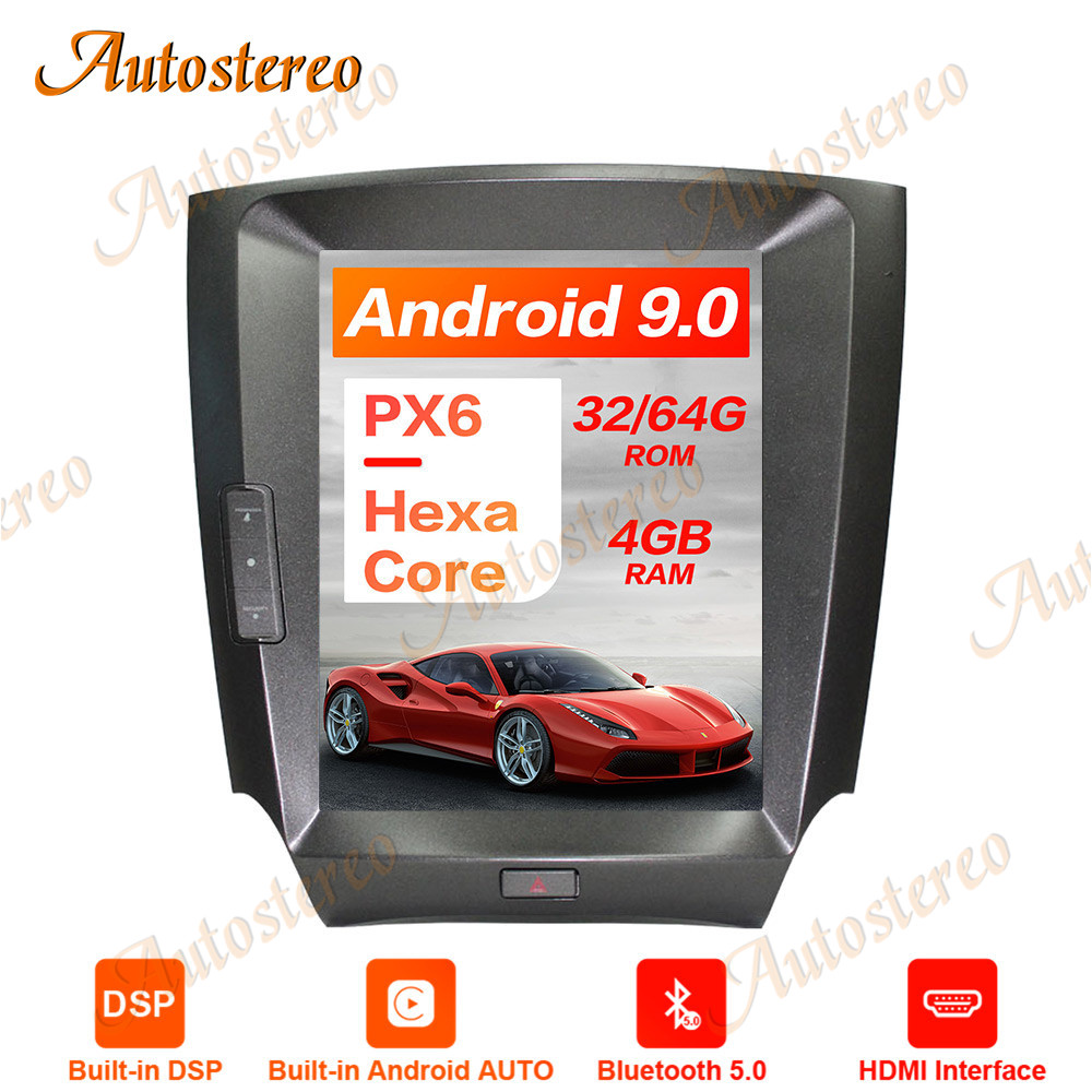 Tesla Style Android 9.0 PX6 4GB Vertical Screen Car GPS Navigation For <font><b>LEXUS</b></font> IS250 IS350 Head Unit Multimedia Player Auto Radio image