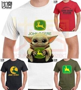 Новинка 2020 года; детская футболка с логотипом йода и Джон дира мужские и женские футболки из 100% хлопка с короткими рукавами; Повседневная фу...