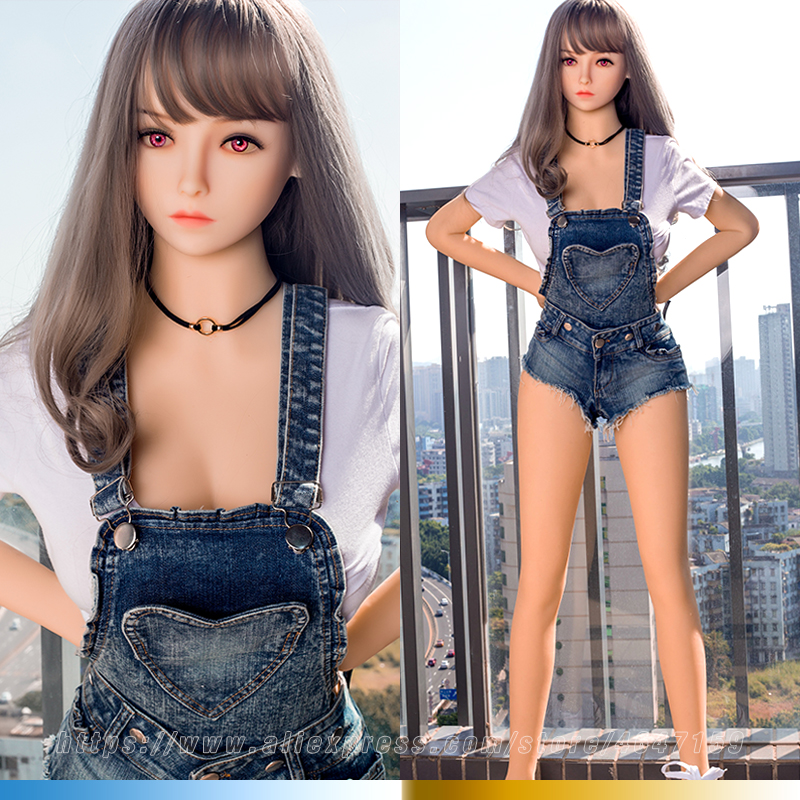 158cm Lifelike Real EU Sex Doll Full Size Silicone with Skeleton Love Doll Adult for Men