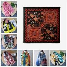 Desiguers, роскошный брендовый женский летний шарф, испанская Цветочная шаль, женские шарфы с принтом
