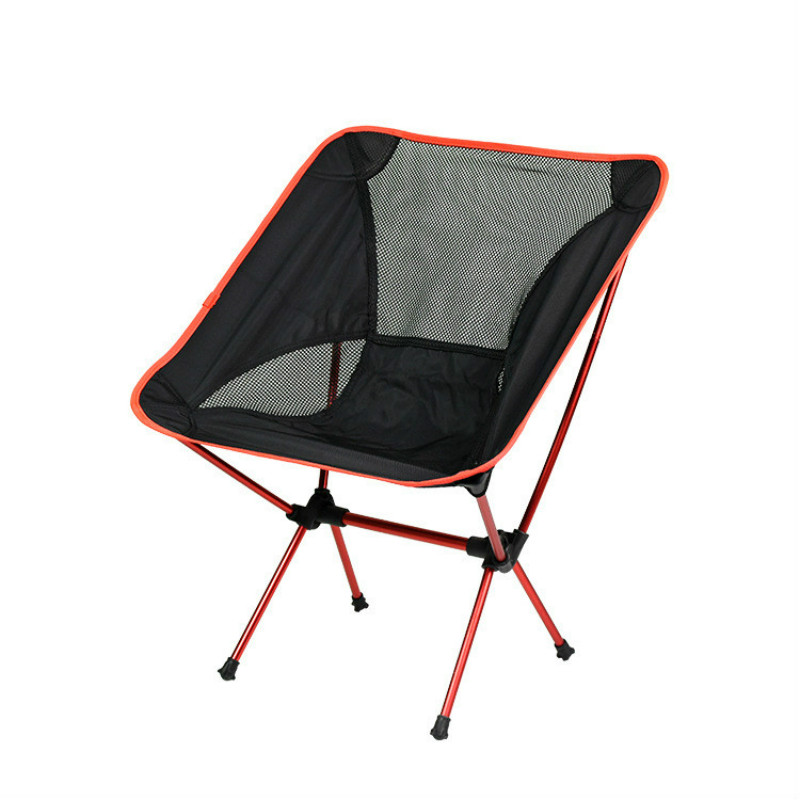 Factory Direct Sale Outdoor Camping Folding Chair Moon Chair Aluminum Alloy Folding Chair Outdoor Oxford Cloth Folding Chair