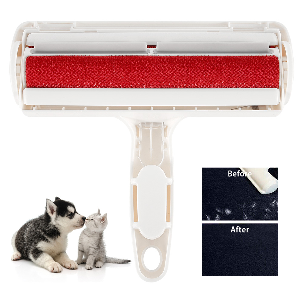 ペットの毛リムーバー糸くず猫犬毛皮スティッキーリントローラー除去シェーバーペット再利用可能なヘアブラシクリーナー掃除ペット用品