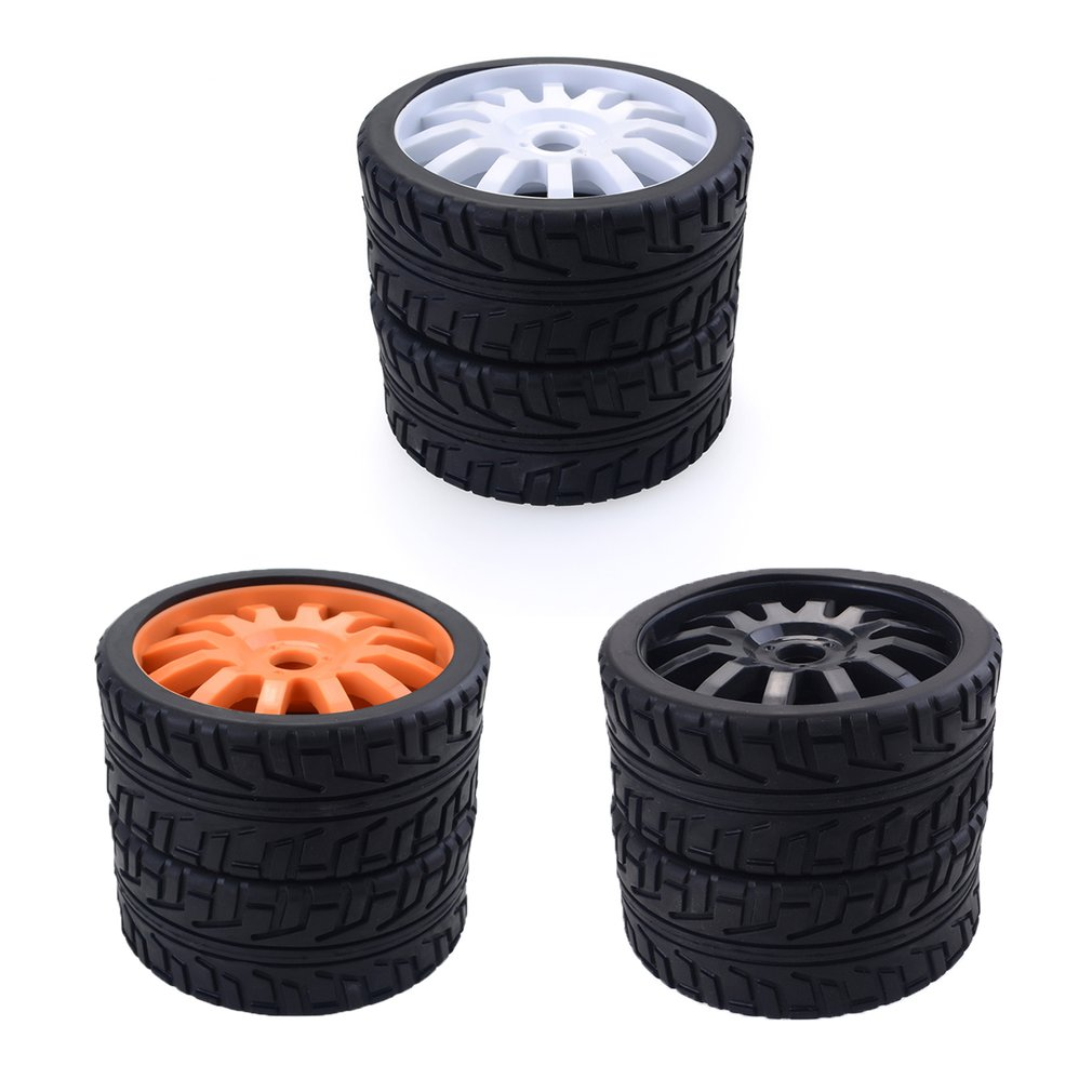 4PCS 1/8 RC Car Rubber Tyres Plastic <font><b>Wheels</b></font> for Redcat Team Losi VRX HPI Kyosho HSP Carson Hobao 1/8 Buggy /On-road car image