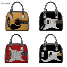Jackherelook New Arrived Women's Cross Body Tote Leather Handbag Cool Guitar Lover Messenger Bags Art Music Style Shoulder Bag(China)