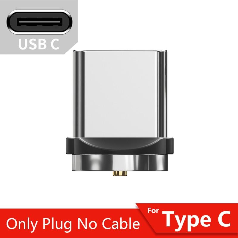 Магнитный кабель магнитная зарядка Essager Micro usb type C кабель для samsung Oneplus iPhone зарядное устройство магнит быстрый заряд кабеля USB C type-C шнур провода - Цвет: Only Type C Plug