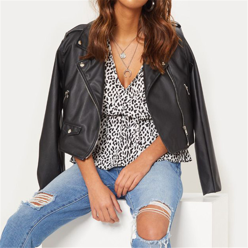 Sitaicery Chiffon Blouses Sexy Deep V neck Short Flare Sleeve Leopard Blouse Shirt Women Casual Tops Plus Size Chemisier Femme in Blouses amp Shirts from Women 39 s Clothing