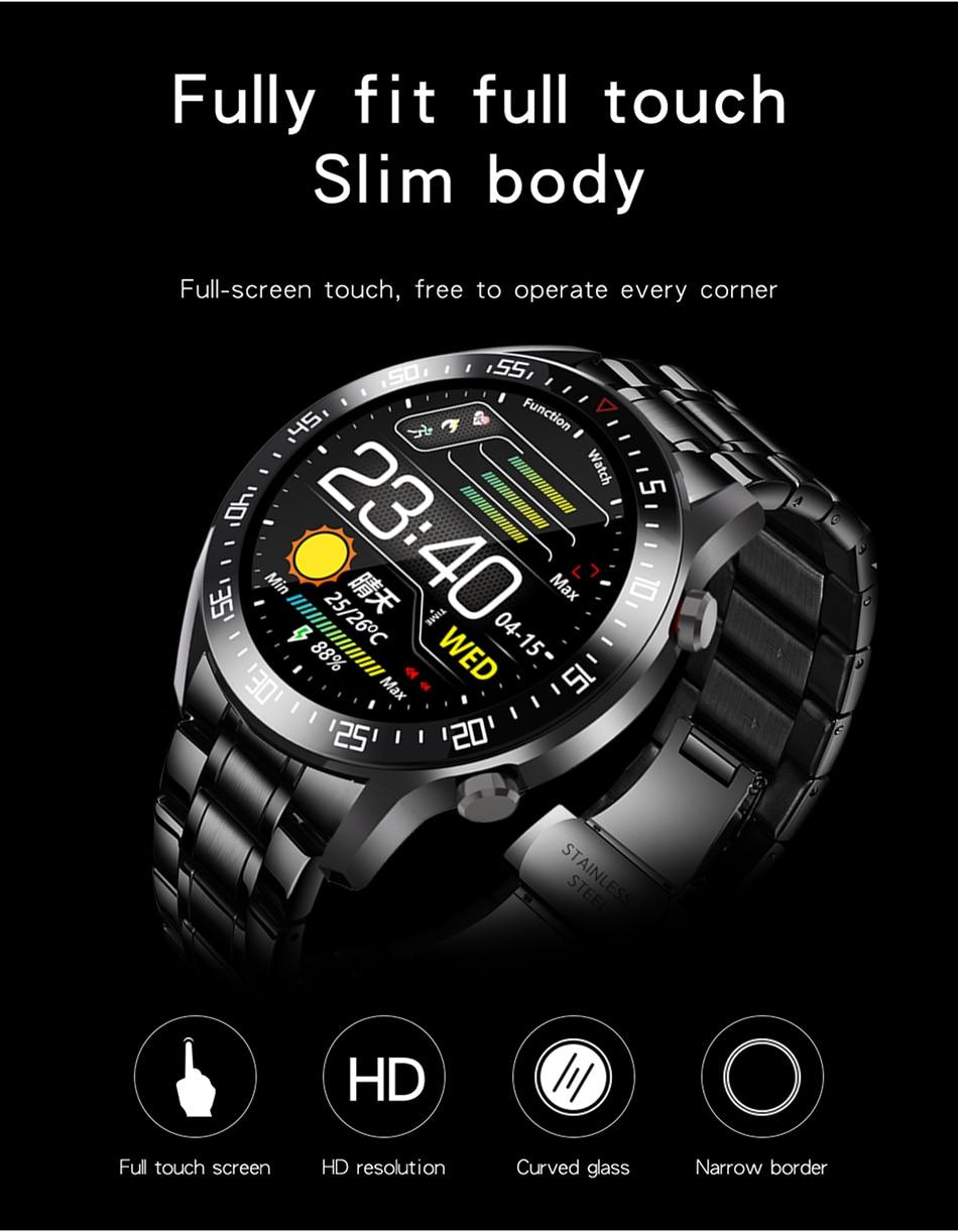 H6f01df951cc24899acc2b433da6dfc83M LIGE 2021 New Full circle touch screen Mens Smart Watches IP68 Waterproof Sports Fitness Watch Man Luxury Smart Watch for men