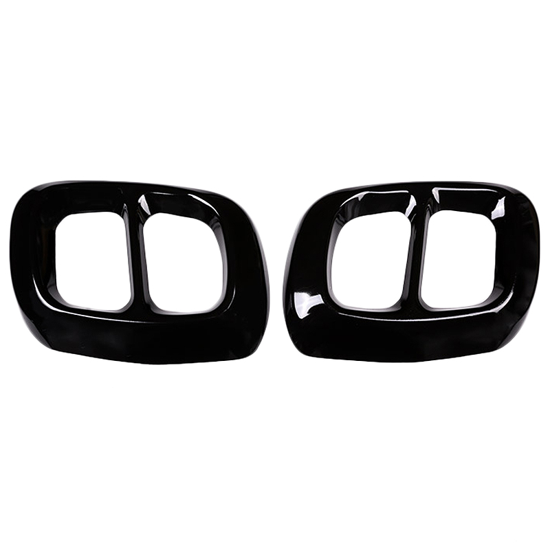 2Pcs Glossy Black Stainless Steel For Mercedes Benz Gla Class X156 Car Exhaust Output Tail Cover Trim For Infiniti Q30 Qx30 Exhaust  Assembly     - title=