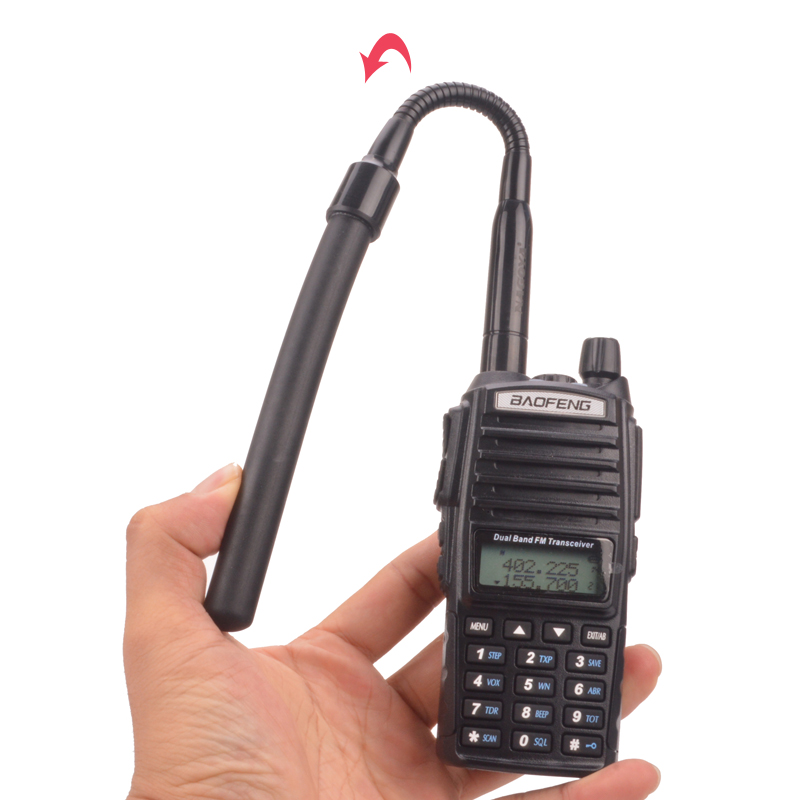 Walkie Talkie Antenna Dual Band VHF/UHF SMA-Female Handheld Antenna Goose Tube Tactical CS Antenna For Baofeng Radio UV-5R UV-82
