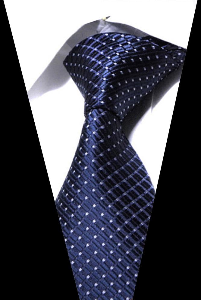 Men's Tie 8cm Stripe Dot Neck Ties For Men Blue Soild Necktie Classic Business Wedding Tie Gravat Accessories Gift For Men