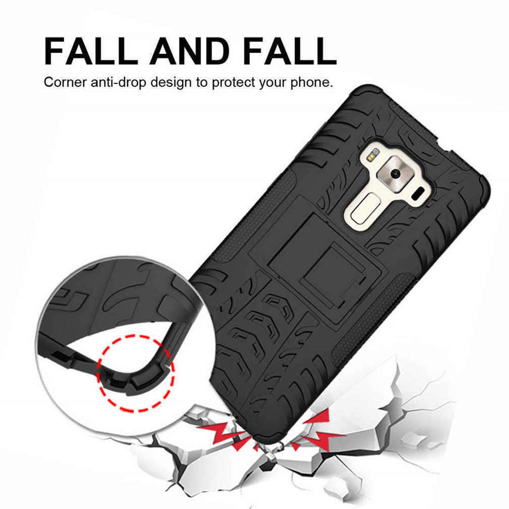 Vicky Tang Dual Layer Phone Case For Motorola Moto G7 Play Power Z4 Play Heavy Duty Shockproof Phone Cover With Kickstand in Fitted Cases from Cellphones Telecommunications