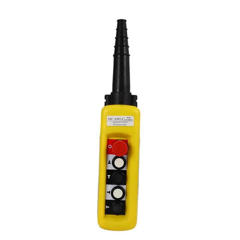 XAC-A4913 Rain-Proof Crane Control Button, 4-Button Double Speed With Emergency Stop