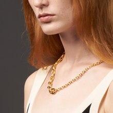 ENFASHION Schrittweise Kreis Link Kette Halskette Frauen Gold Farbe Edelstahl Choker Halsketten Mode Schmuck Collier P203139