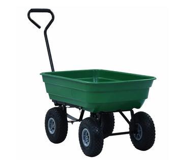 Ogród wózek wywrotka wózek Wagon taczka przechylanie wózek ogrodowy 300 kg 75L zielony tanie i dobre opinie CN (pochodzenie)