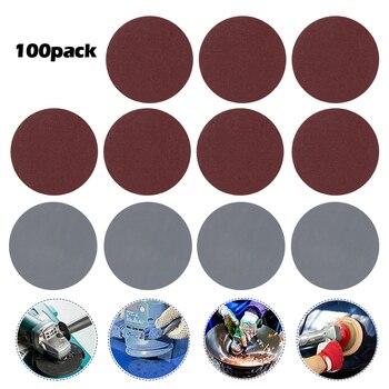 100pcs 3 Inch Sander Disc Sanding Discs Cutting Disc Backer Set for Polishing Cleaning Tools High Quality Sandpaper a backer grøndahl 3 claverstykker op 35
