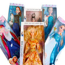 Disne Princess Toys Froze Elsa Anna Doll Snow Queen Children Girls Toys Birthday Christmas Gifts For Kids Sharon Dolls