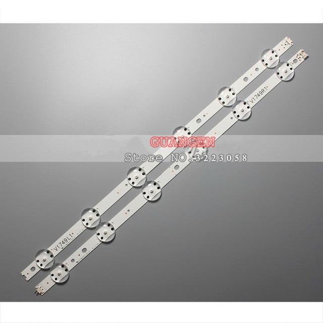 """10set LED Backlight strip For LG 49"""" V17 ART3 TV 49LV340C JB3B1591A02499 49UV340C 49UJ6565 6916L 2862A 6916L 2863A LC490DGG"""