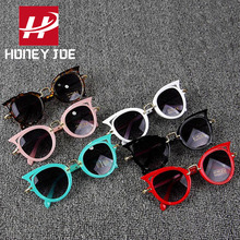 Kids Stylish Cat Eye Sunglasses Cute Shades Eyewear Sun Glasses Party Outdoor Lo