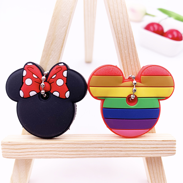 2Pcs/set Cute Cartoon Silicone Protective key Case Cover For key Control Dust Cover Holder Organizer Home Accessories Supplies 2