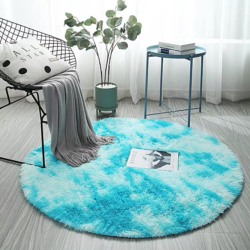 Style Colorful Round Carpet Nordic Rug