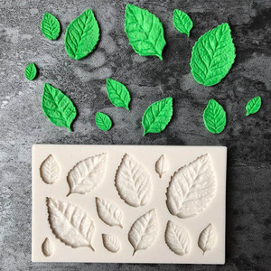 Green Fern Leaf Silicone Mold For Epoxy Resin Molds Leaf DIY Coasters Mould Jewelry Making Tools