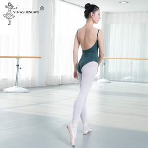 Image 5 - バレエダンスウェアバレエレオタード女性のための黒バレエダンスウェア大人のダンスの練習の服プロの体操レオタード