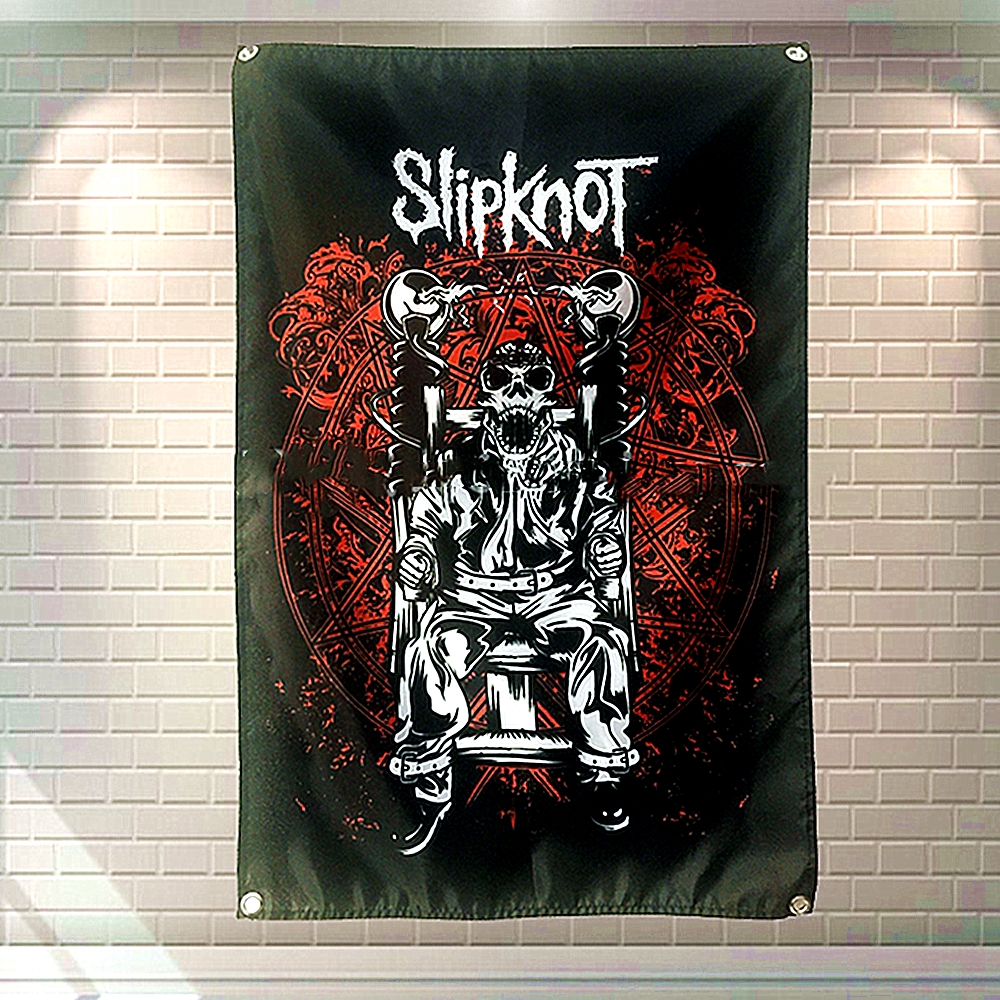 Hip hop \ Jazz \ Reggae \ Heavy Metal musique affiche tapisserie suspendus peinture fond décor tissu Rock Band affiches bannières drapeaux B1