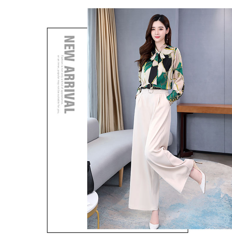 H6f02dcb9c9684399bf9e4b64e40be12ae - Summer Two Piece Set OL Women Sets Plus Size Two Piece Set Top And Pants Wide Leg Pants Woman Tracksuit /outfit/suit/Set 2 Piece