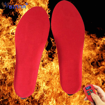 2000mAH Warm Electrically Heated Insoles with LED Remote Control Winter Outdoor Sport Ski Hunting Thermal Insoles for Women Shoe