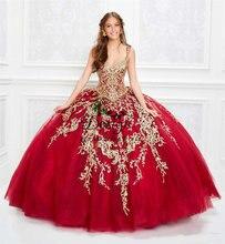 2020 великолепные красные платья на бретелях спагетти для quinceanera