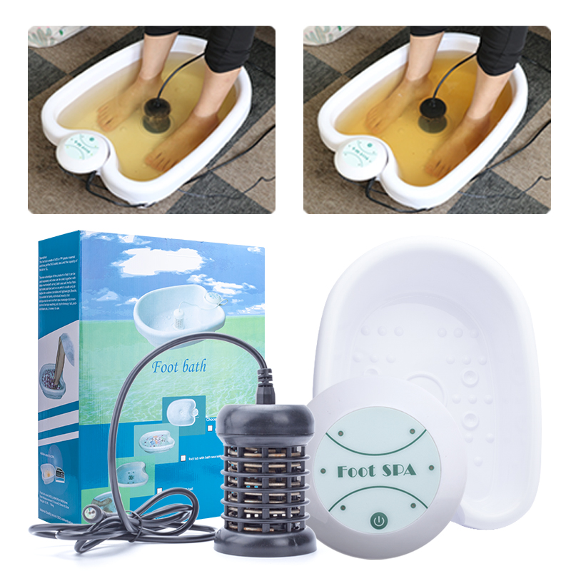 Ion Cleanse Detox Foot Spa Foot Bath Detox Device Foot Massage Foot Spa Ionic Detox Machine With Plastic Foot Tub