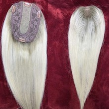 Cuticle Hairpieces Toupee Blonde Topper Human-Hair Women Lace Virgin Straight Weft