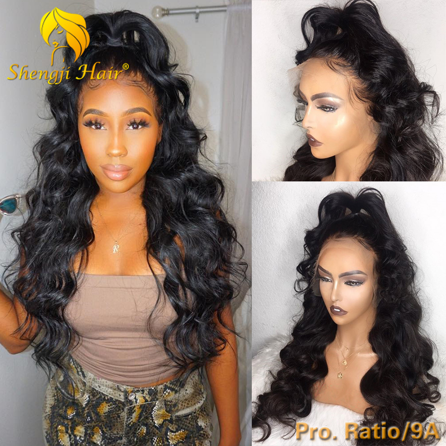 Body Wave Lace Front Wig 13x6 Brazilian Fake Scalp Glueless Lace Front Human Hair Wigs For Black Women 150 Shengji Remy Hair Wig