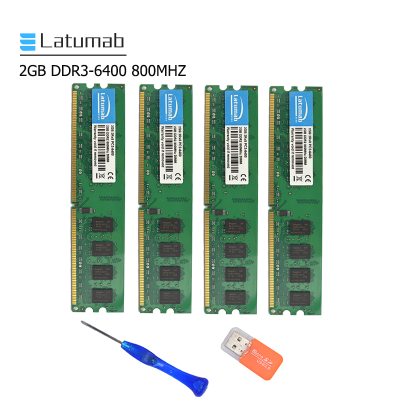Latumab 2GB 4GB DDR2 800mhz PC2 6400 memoria de escritorio Dimm memoria Ram 240 pines 1,8 V Escritorio PC memoria RAM módulo de memoria Kembona original chips marca PC de escritorio DDR2 1 GB/2 GB/4 GB 800 MHz/667 MHz/533 MHz DDR 2 DIMM-240-Pins escritorio memoria Ram