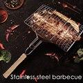 Портативный Нержавеющаясталь с антипригарным покрытием корзина для гриля барбекю гриль сетка для барбекю для овощей стейк мясо Пикник Ве...