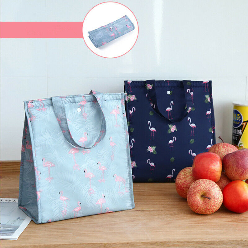 Durable Foldable Portable Insulated Thermal Cooler Lunch Box Waterproof Tote Picnic Oxford Environmental Protection Shopping Bag