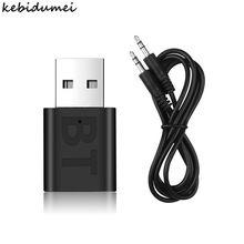 Receptor USB inalámbrico con Bluetooth 5,0 para TV, auriculares, PC, Bluetooth 3,5, clavija AUX de 5,0mm, Cable de 3,5mm, Adaptador de Audio estéreo para coche