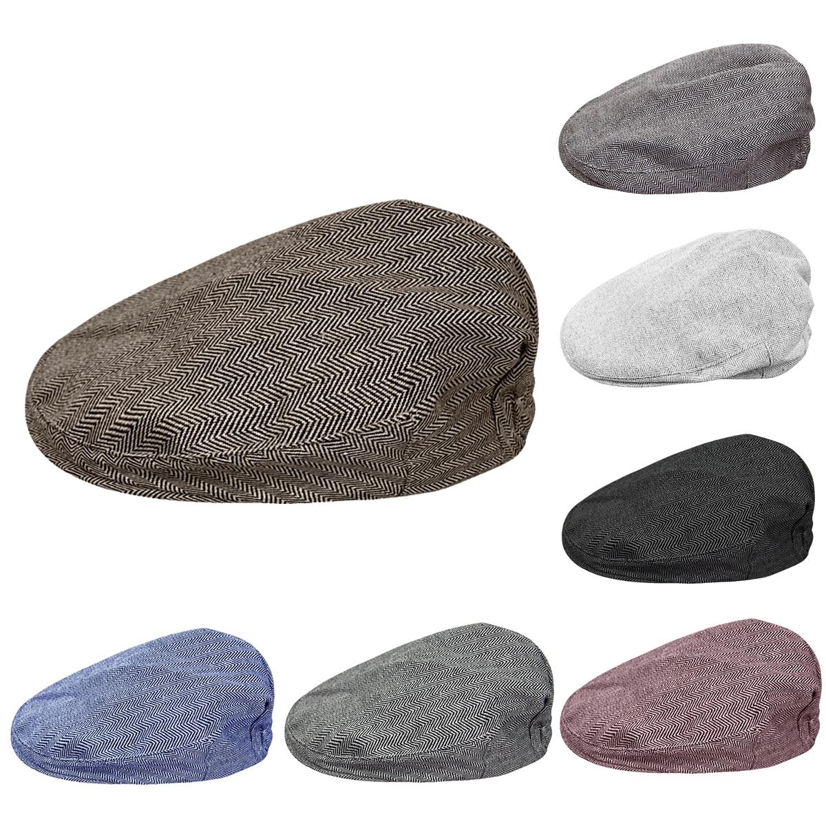 Детская кепка с узором в елочку для мальчиков, Детские эластичные береты, шапки, Детская Праздничная Кепка, шапка для малышей, винтажные кепки для водителей