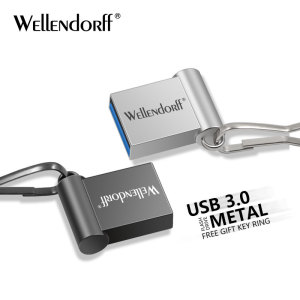 Fashion Super Mini Metalen Usb Flash Drive 4 Gb 8 Gb 16 Gb Pen Drive 32 Gb 64 Gb Usb 3.0 Flash Stick Pendrive free logo