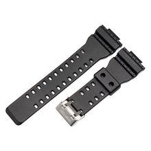 цена на Soft Silicone Watchband Wrist Strap for Casio G-shock GA-110GB GA100 GD120 Watch