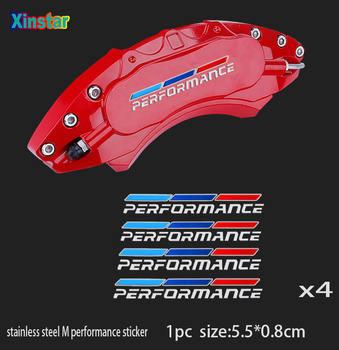 4pcs stainless steel M performance car brake caliper sticker for bmw m 1 2 3 4 5 6 7 x1 x3 x4 x5 x6 Series gt z4 image